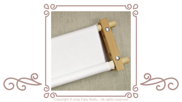 How to position your fabric onto an oblong stitching frame