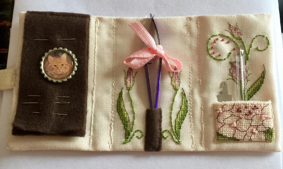 Lizzie Wallet - stitched by Sharon