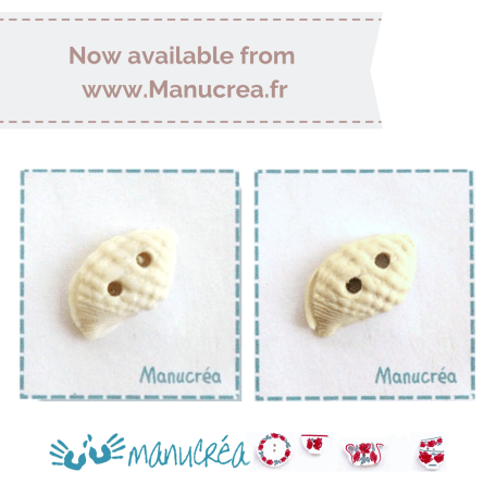Manucrea for Faby Reilly Designs – seashell buttons