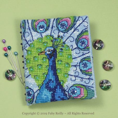 Peacock Needlebook - Faby Reilly Designs
