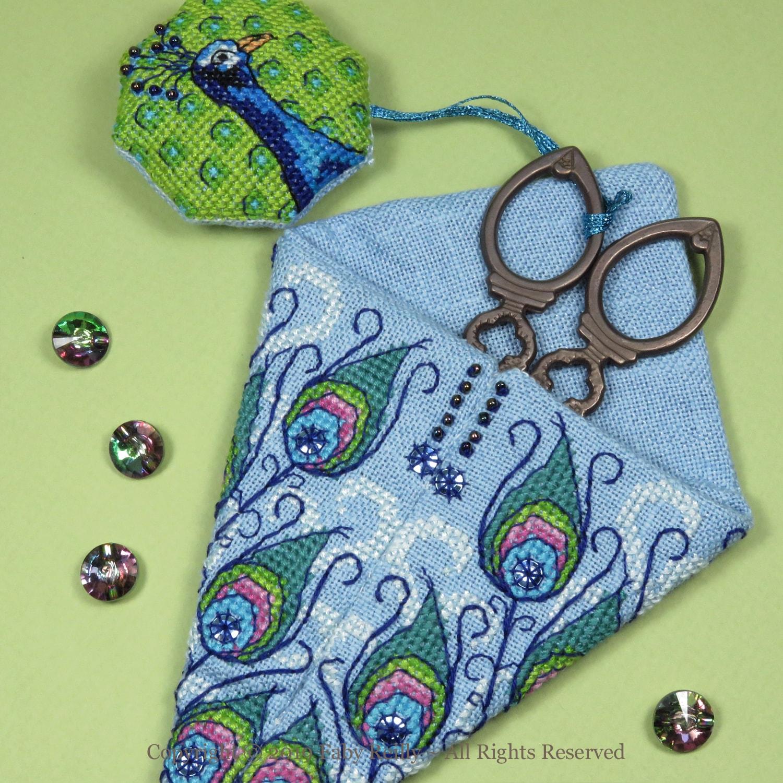 Peacock Scissor Case - Faby Reilly Designs