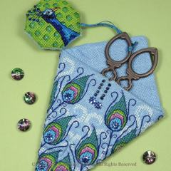 Peacock Scissor Case - Faby Reilly Designs