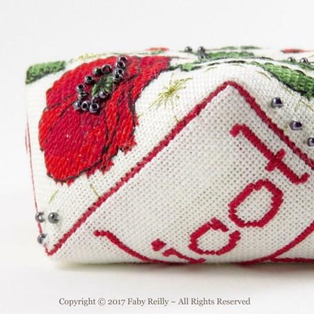 Poppy Biscornu – Faby Reilly Designs