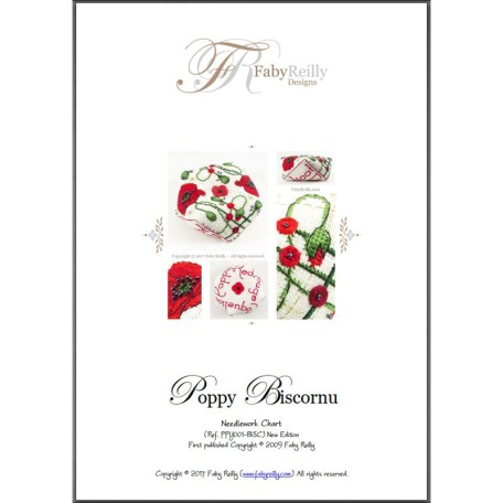 Poppy Biscornu – Faby Reilly Designs