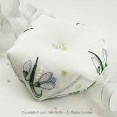 Snowdrop Biscornu - Faby Reilly Designs