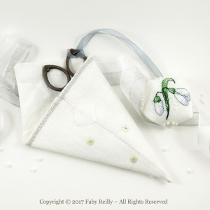 Snowdrop Scissor Case - Faby Reilly Designs