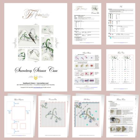 Snowdrop Scissor Case Sample Pages – Faby Reilly Designs