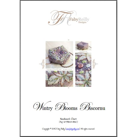 Wintry Blooms Biscornu – Faby Reilly Designs
