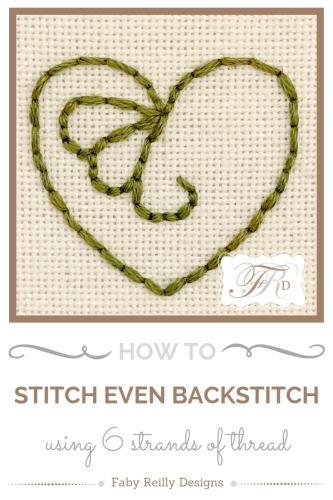 6 stranded backstitch Tutorial - Faby Reilly Designs