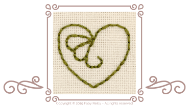 How to stitch even backstitch in 6 strands
