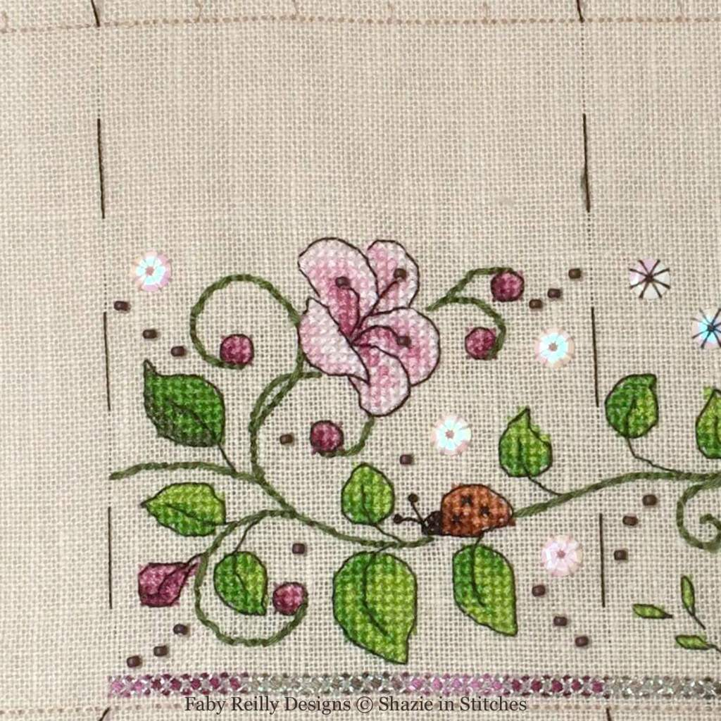 SAL Zoé Partie 2 (Platinum - model stitched by Shazie - www.shazieinstitches.co.uk)