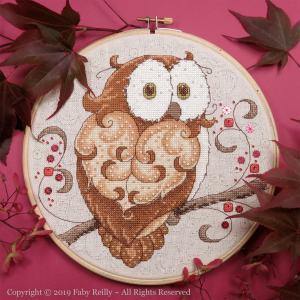 Sparkly Owl Hoop