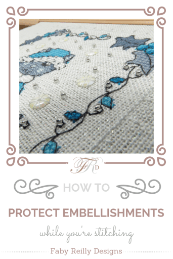 Protecting Embellishments Tutorial Pin - Faby Reilly Designs