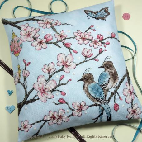 Cherry Blossom Cushion - Faby Reilly Designs