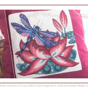 Lotus & Dragonfly Cushion