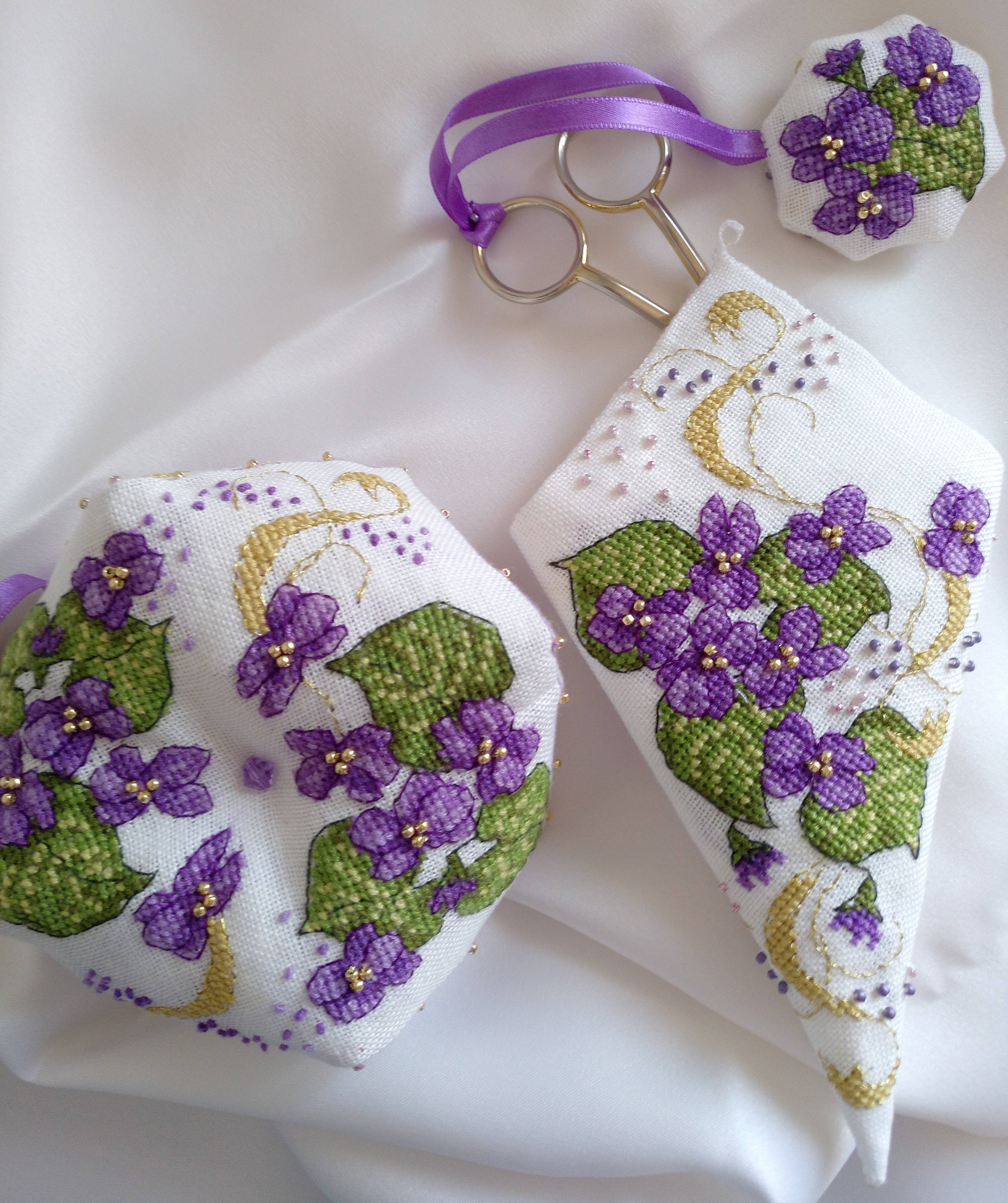 Violet Set (Faby Reilly Designs) stitched by Marina P