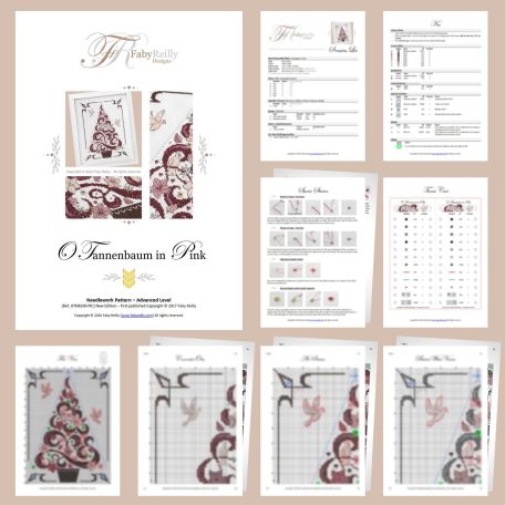 O Tannenbaum in Pink – Sample Pages – Faby Reilly Designs