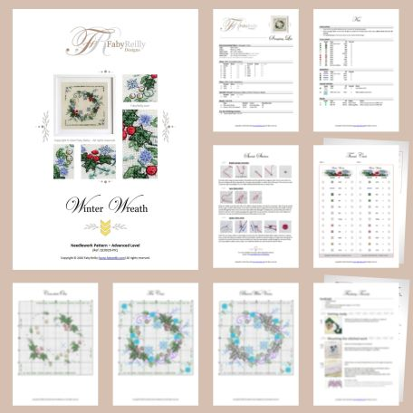 Winter Wreath Sample Pages – Faby Reilly Designs