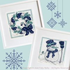 Navy and Mint mini frames - Faby Reilly Designs