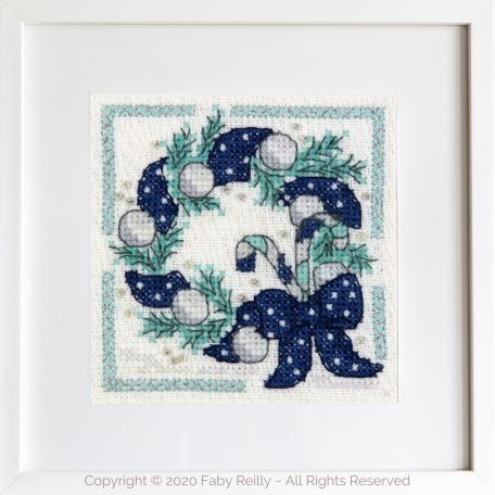 Navy and Mint Mini Frame 06A – Faby Reilly Designs