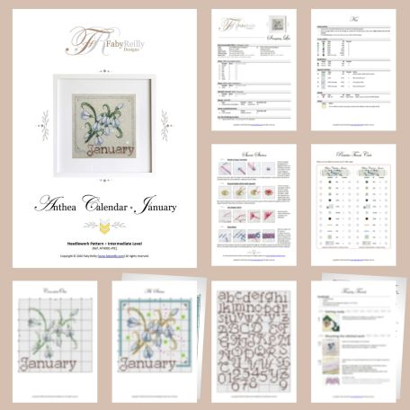 Anthea Calendar Janvier – Sample Pages – Faby Reilly Designs