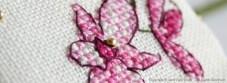 Plum Orchid Needlebook