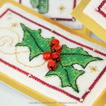 Etiquettes de Noël (série florale)