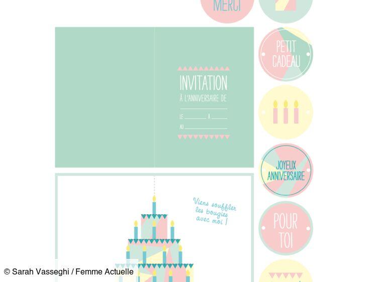 carte d anniversaire des etiquettes
