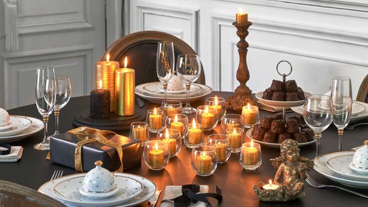 cool table de nol nos ides de dcoration en vidos et photos with tables de noel dcoration