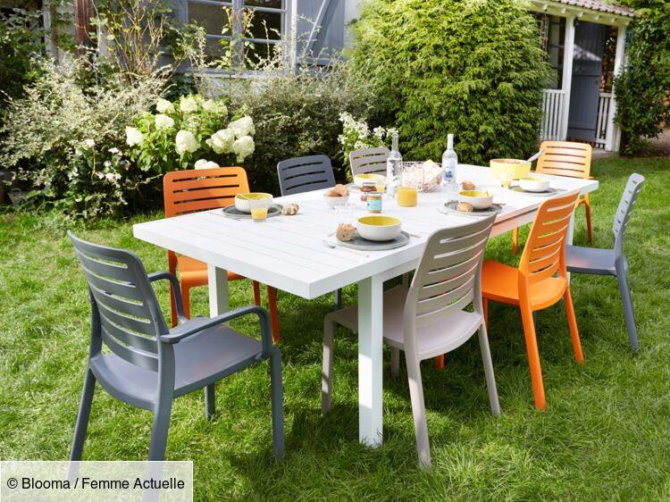 chaise de jardin en plastique bois ou