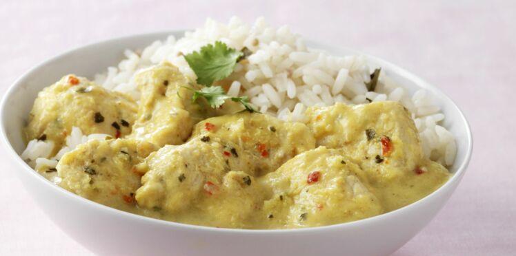 Poulet au lait de coco et riz  dcouvrez les recettes de cuisine de Femme Actuelle Le MAG