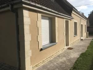 rénovation de façade enduit gratté