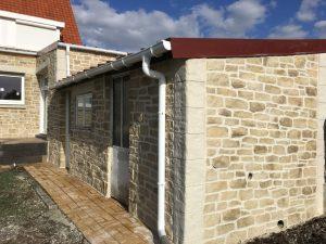 Rénovation de façade, Enduit Imitation Pierre