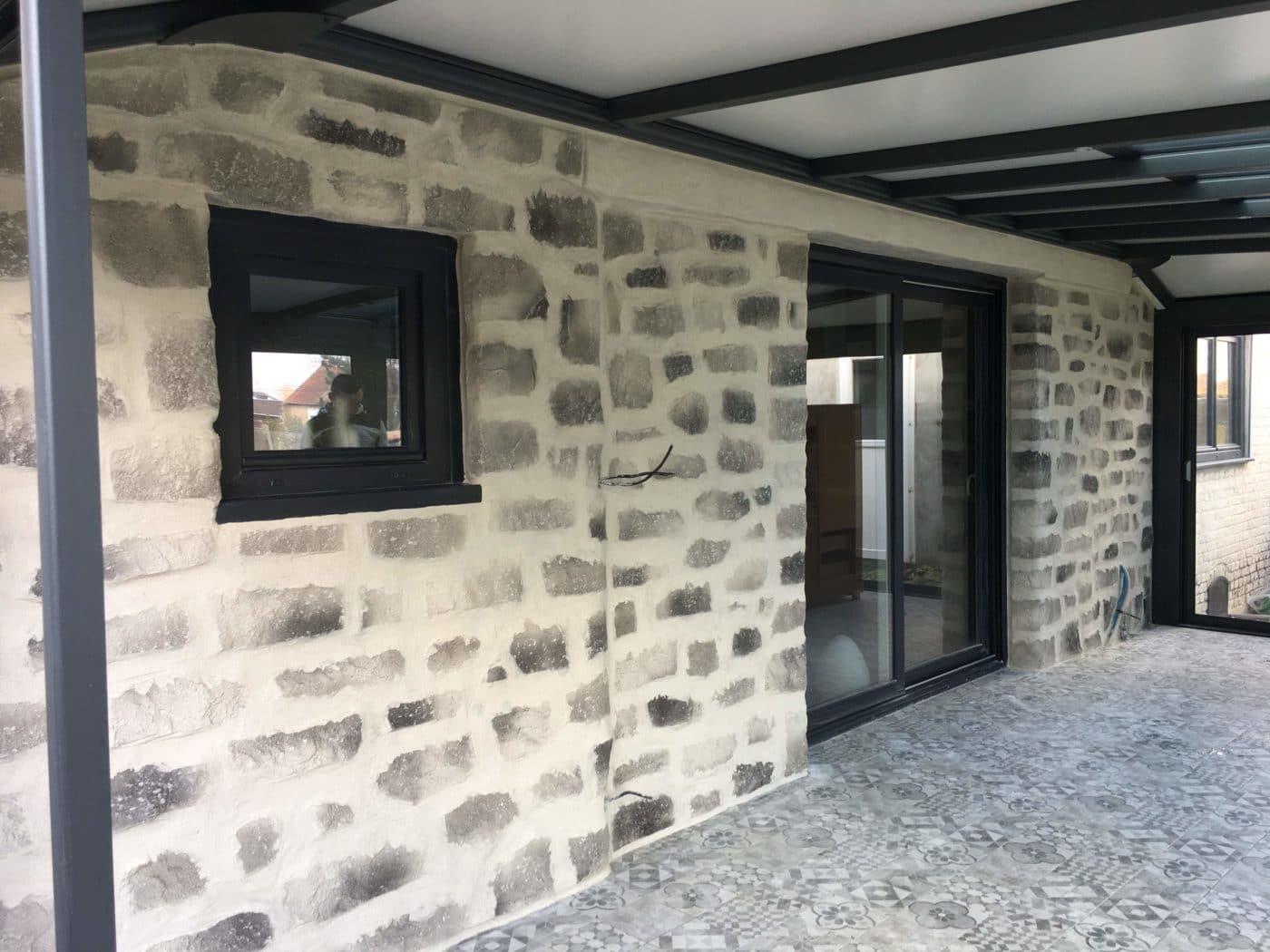 Rénovation de façade enduit décoratif extérieur