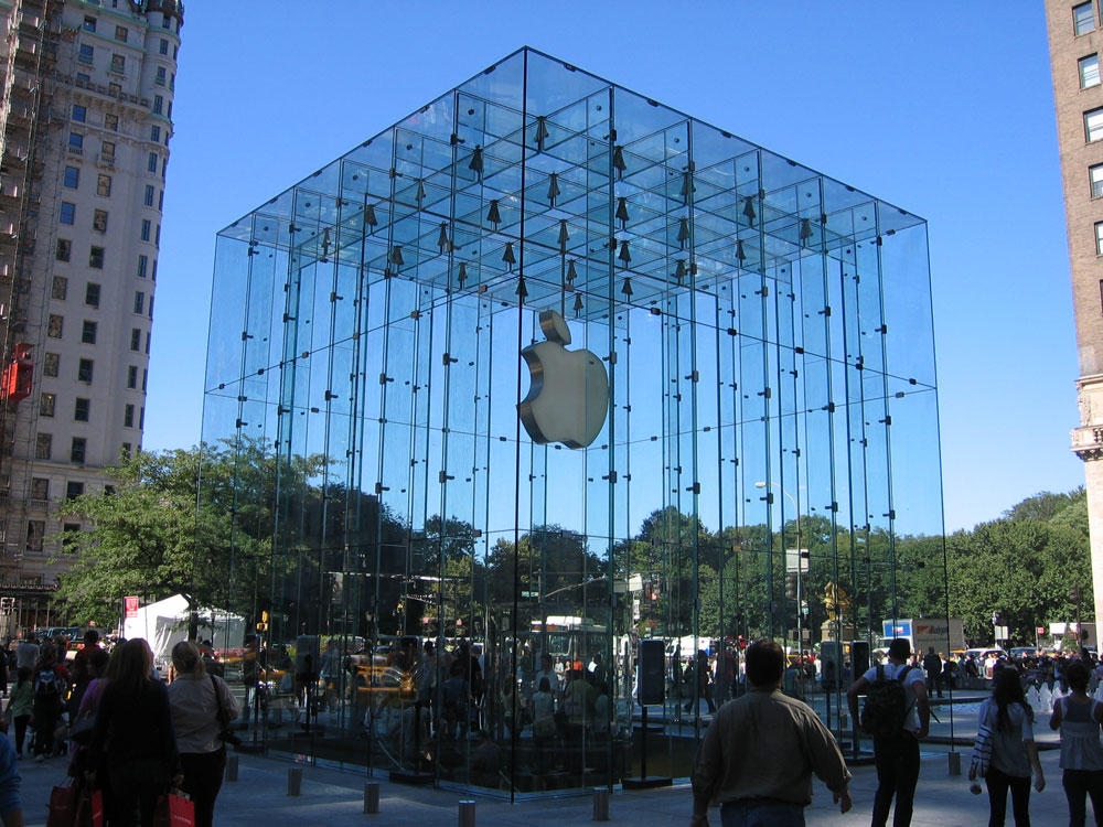 The Apple Store New York  5th Avenue  facadeworld