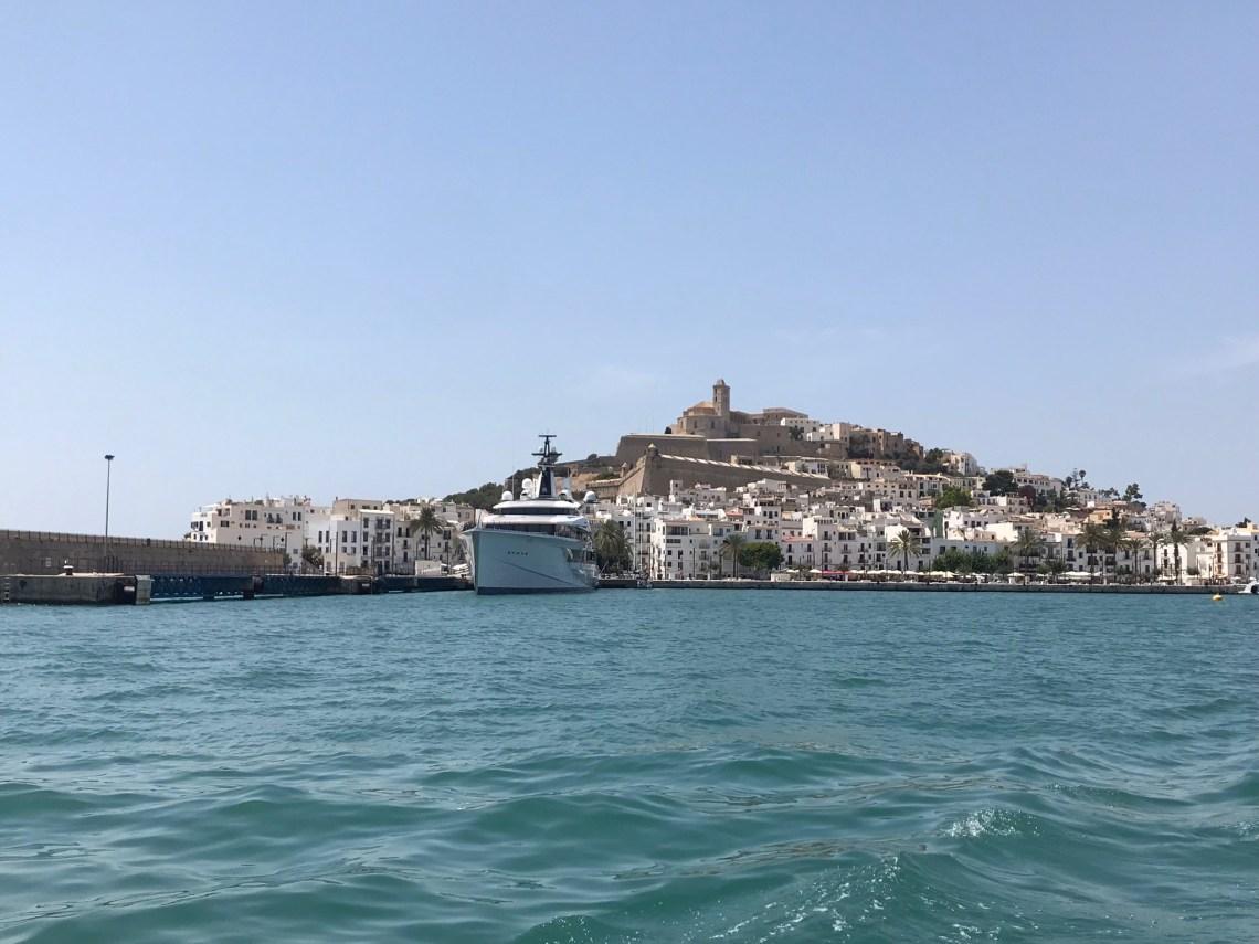 Ibiza dal mare.