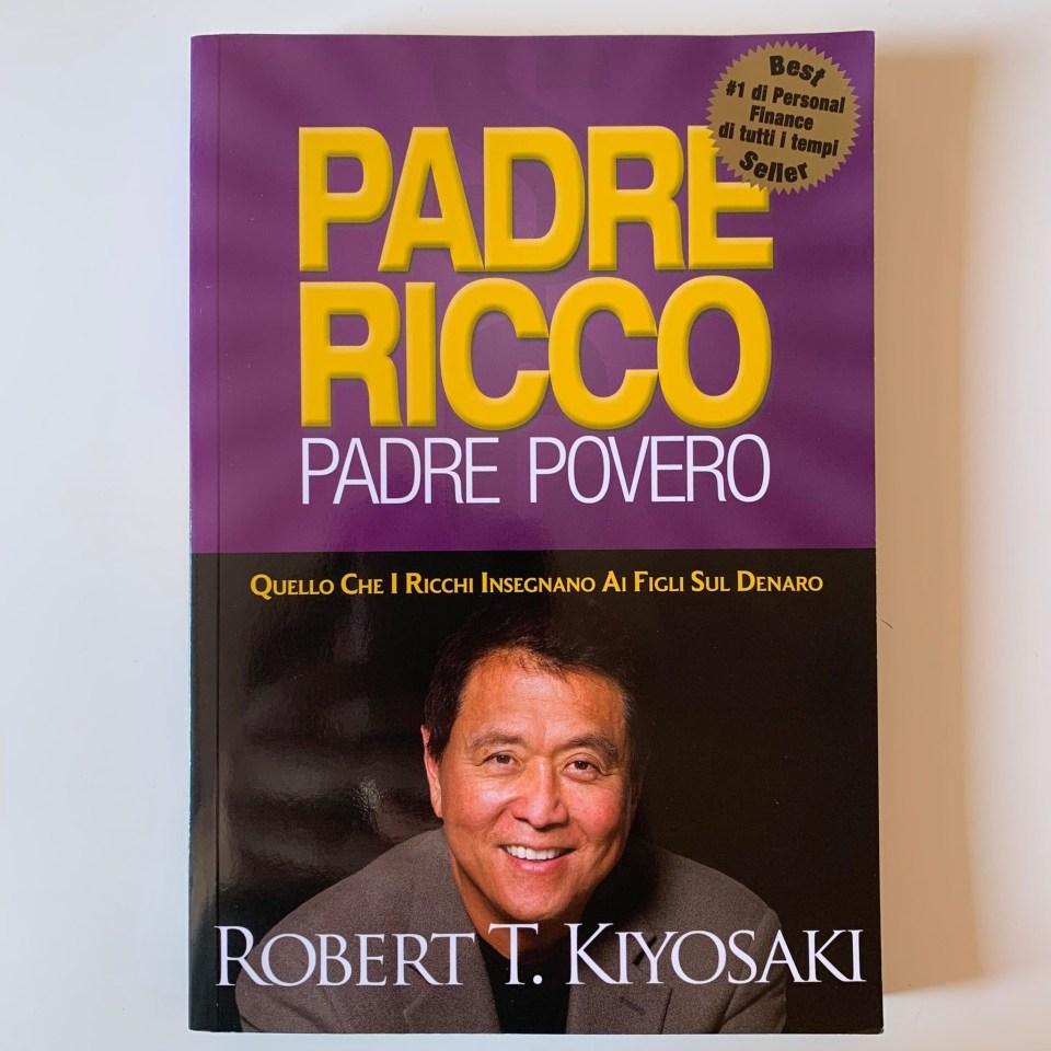"""Copertina del libro """"Padre ricco padre povero""""."""