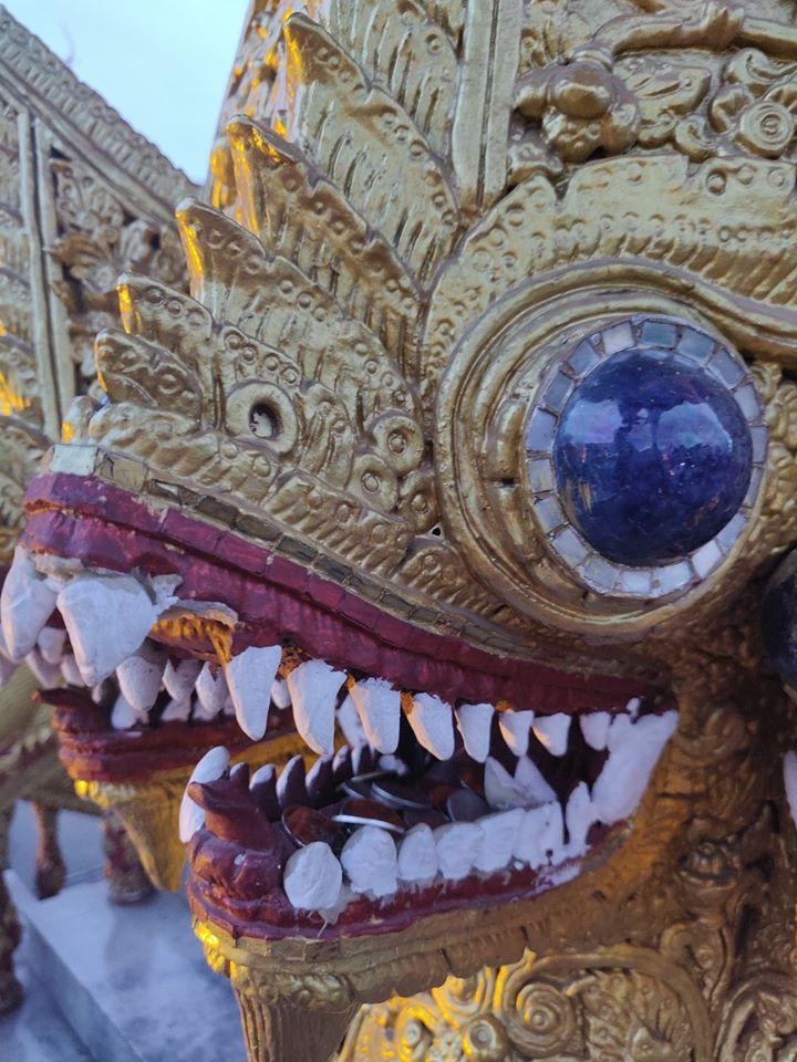 naga, naga chiang mai, serpente oro chiang mai, wat bupparam, Wat Bupparam in Chiang Mai, Thailandia, Chiang Mai, templi da vedere a chiang mai