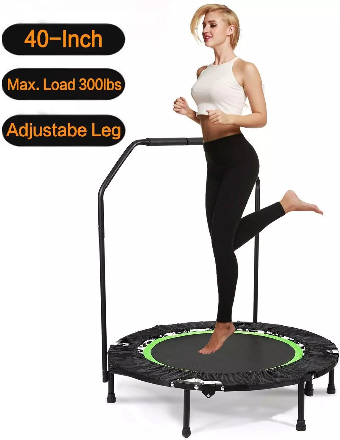 Balanu 40 Inch Mini Exercise Trampoline for Adults or Kids