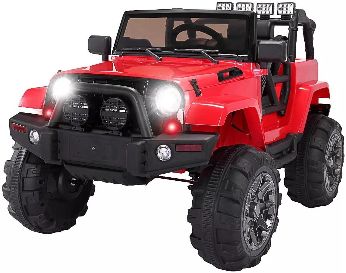 TOBBI Kids Ride on Truck Style 12V Battery Powered Electric Car