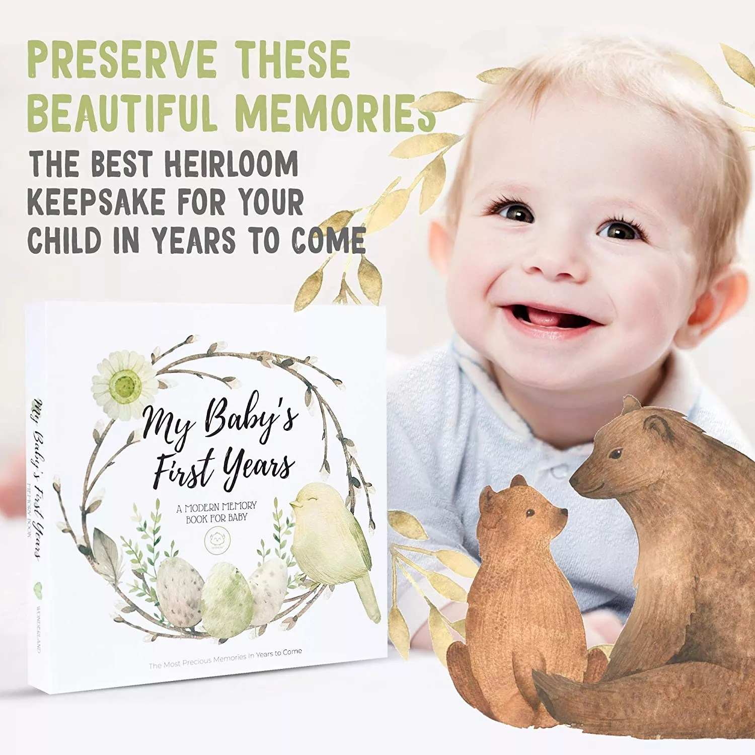 Baby First 5 Years Memory Book Journal