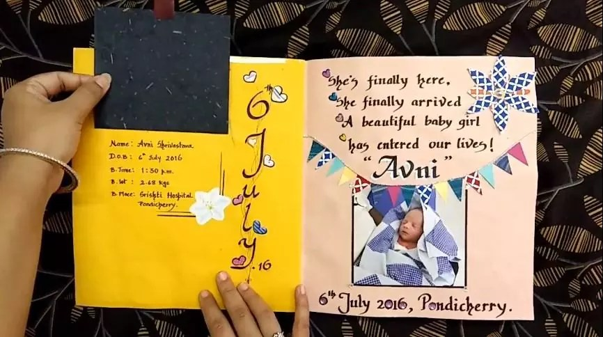 write in a baby memory book