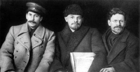 Stalin , Lenin , Trotzki