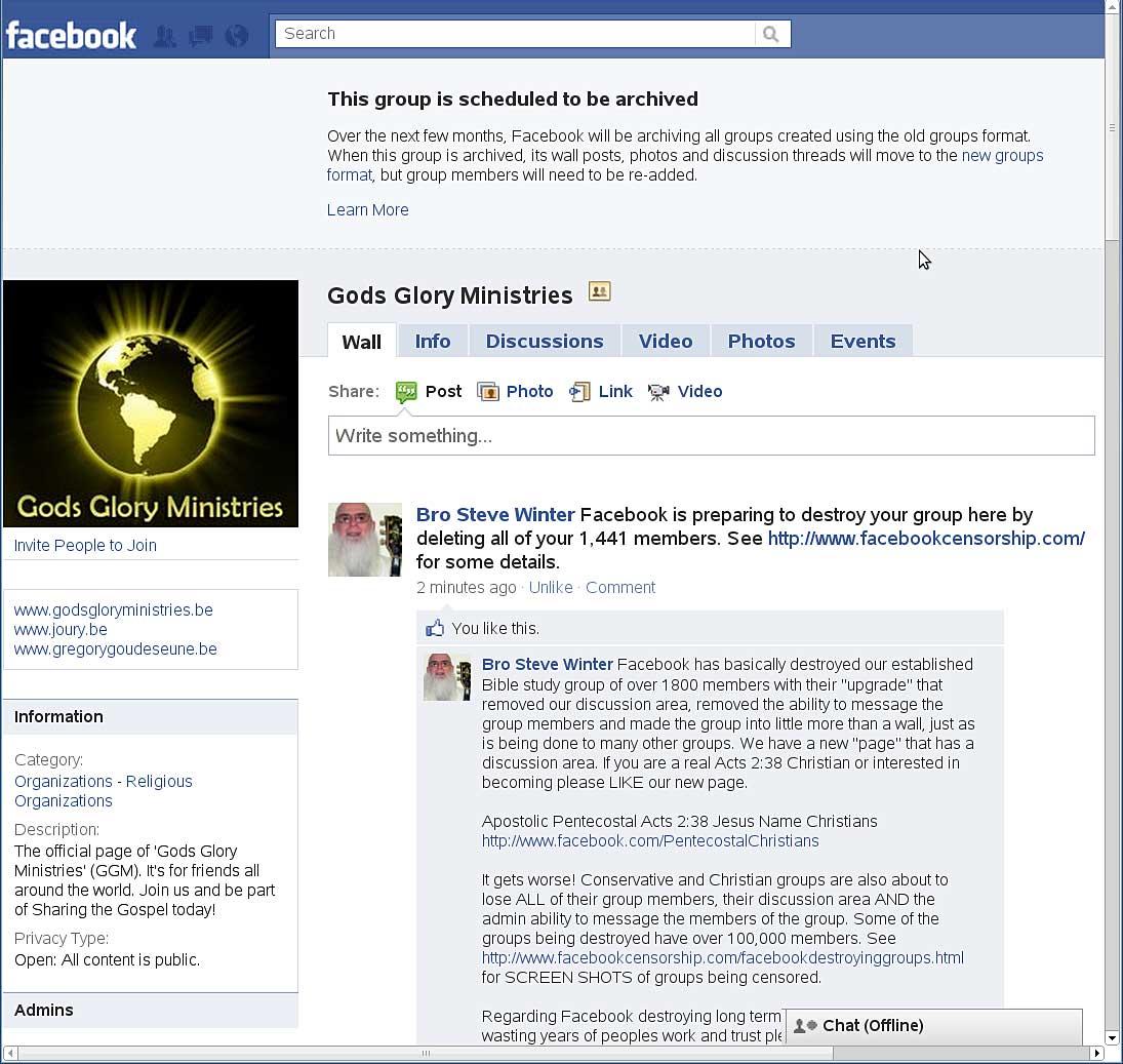 Facebook destroying established groups