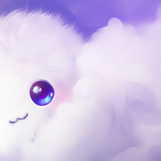Cute Kawaii Puffball Clouds Facebook Cover  Characters