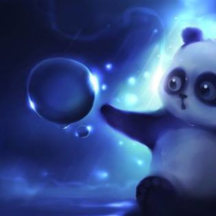 3d Bubbles Wallpaper Desktop Cute Panda Bear Bubble Wonder Facebook Cover Emotions