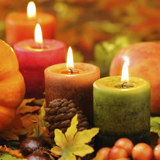 Cool Fall Wallpaper Thanksgiving Candles Pumpkin Fruit Facebook Cover Holidays