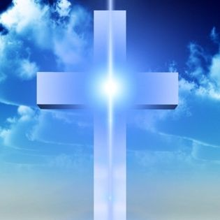 Christian Quotes Wallpaper Hd Cross In Clouds Blue Light Facebook Cover Religion