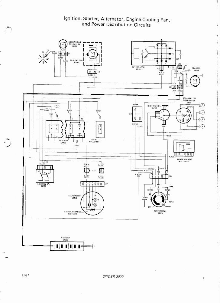 1976 Fiat 124 Spider Wiring Diagram. Fiat. Wiring Diagrams