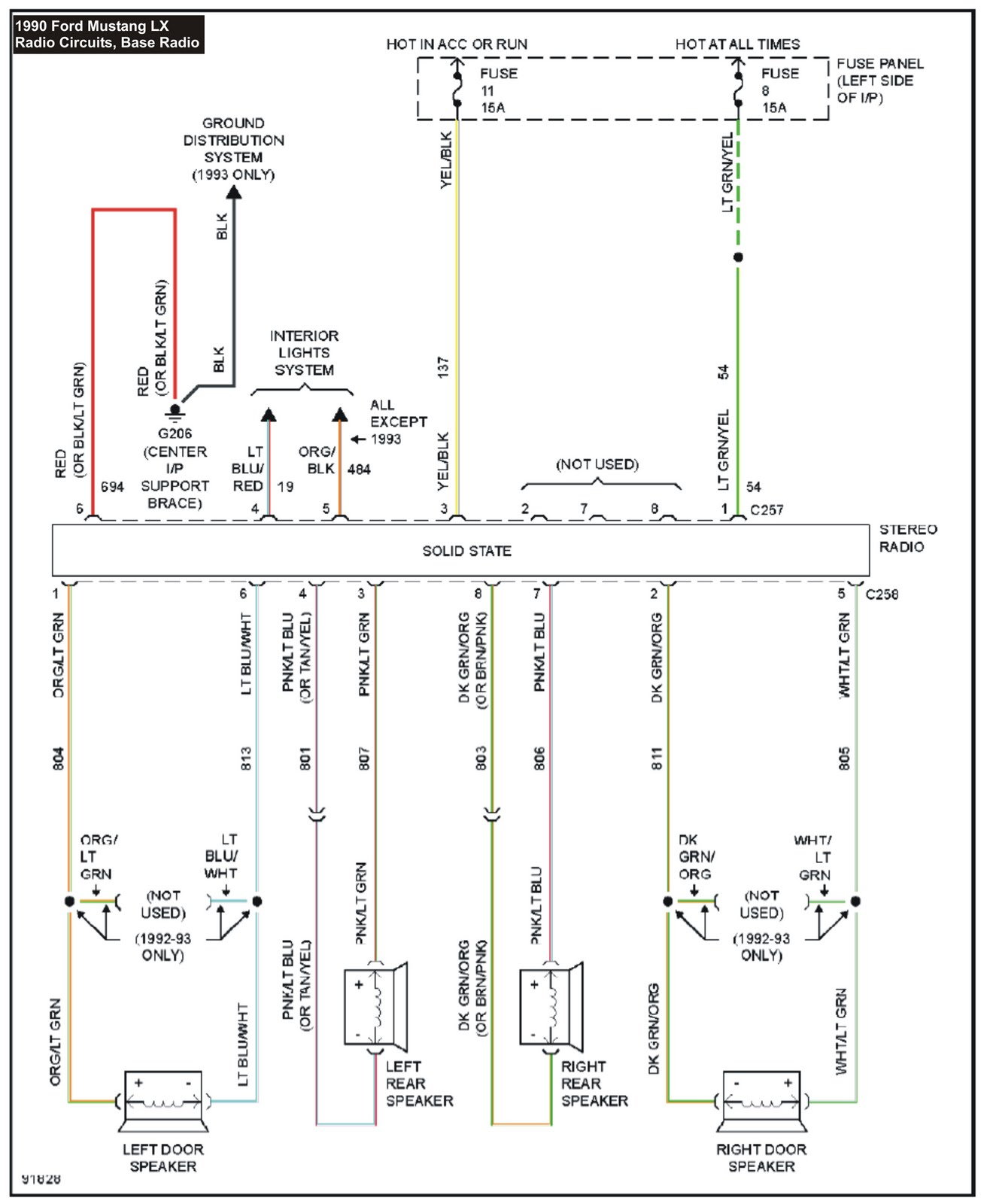 1990 ford ranger radio wiring diagram 7 way trailer harness mustang collection